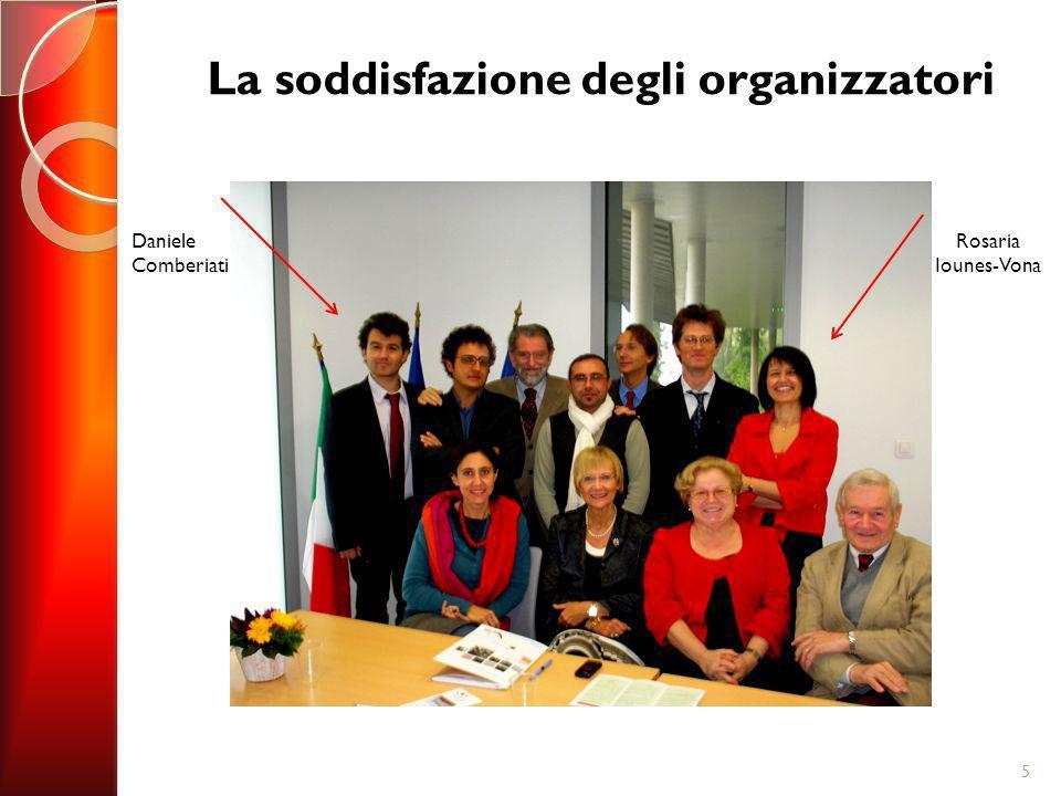 La soddisfazione degli organizzatori 5 Rosaria Iounes-Vona Daniele Comberiati