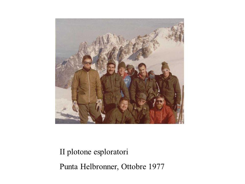 II plotone esploratori Punta Helbronner, Ottobre 1977