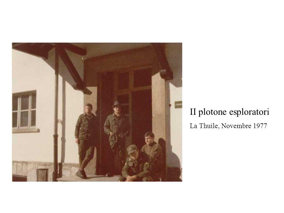 II plotone esploratori La Thuile, Novembre 1977