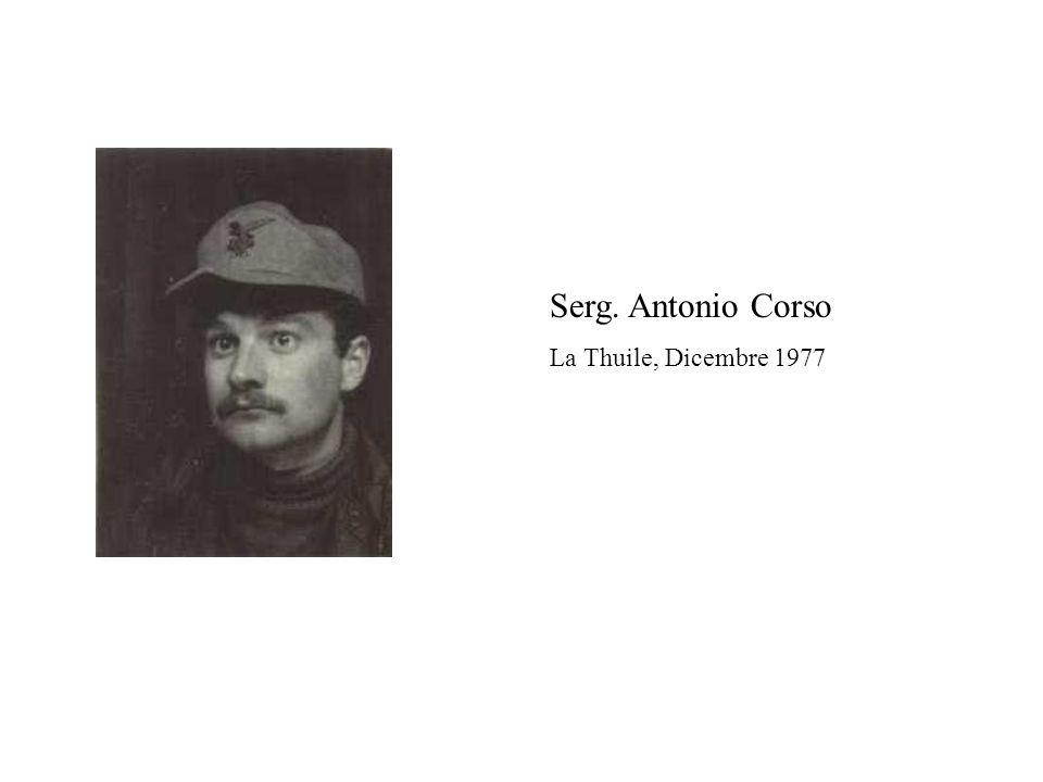 Serg. Antonio Corso La Thuile, Dicembre 1977