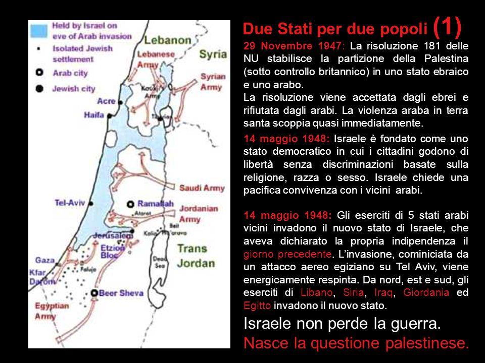 Vero o Falso? Arafat e i palestinesi vogliono vivere in pace, al fianco di Israele. 1