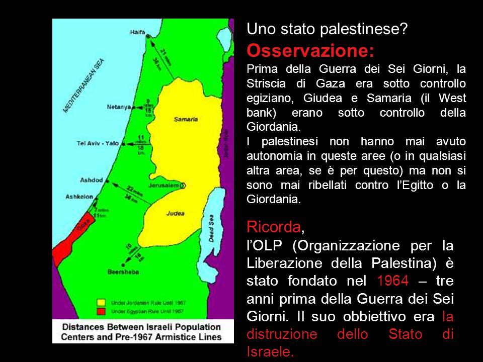 Due Stati per due popoli (1) 29 Novembre 1947: La risoluzione 181 delle NU stabilisce la partizione della Palestina (sotto controllo britannico) in un