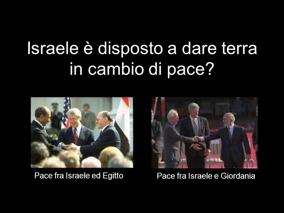 Vero o falso? Israele non cesserà loccupazione rinunciando ai territori per avere la pace. 2