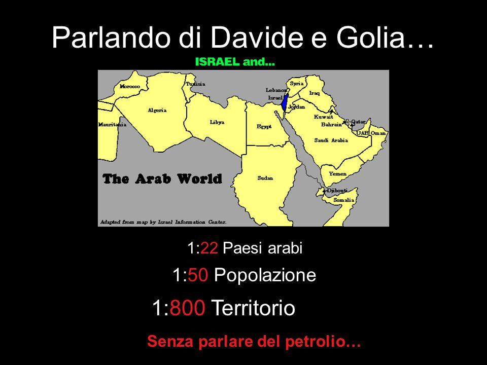 Vero o falso? Gli arabi sono Davide in questo conflitto. Israele è Golia, che usa una forza eccessiva contro i palestinesi armati solo di sassi. 3