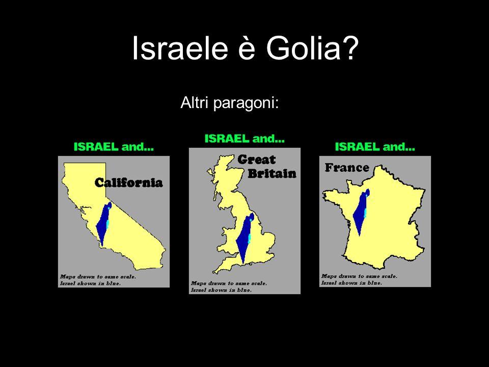Parlando di Davide e Golia… 1:22 Paesi arabi 1:50 Popolazione 1:800 Territorio Senza parlare del petrolio…