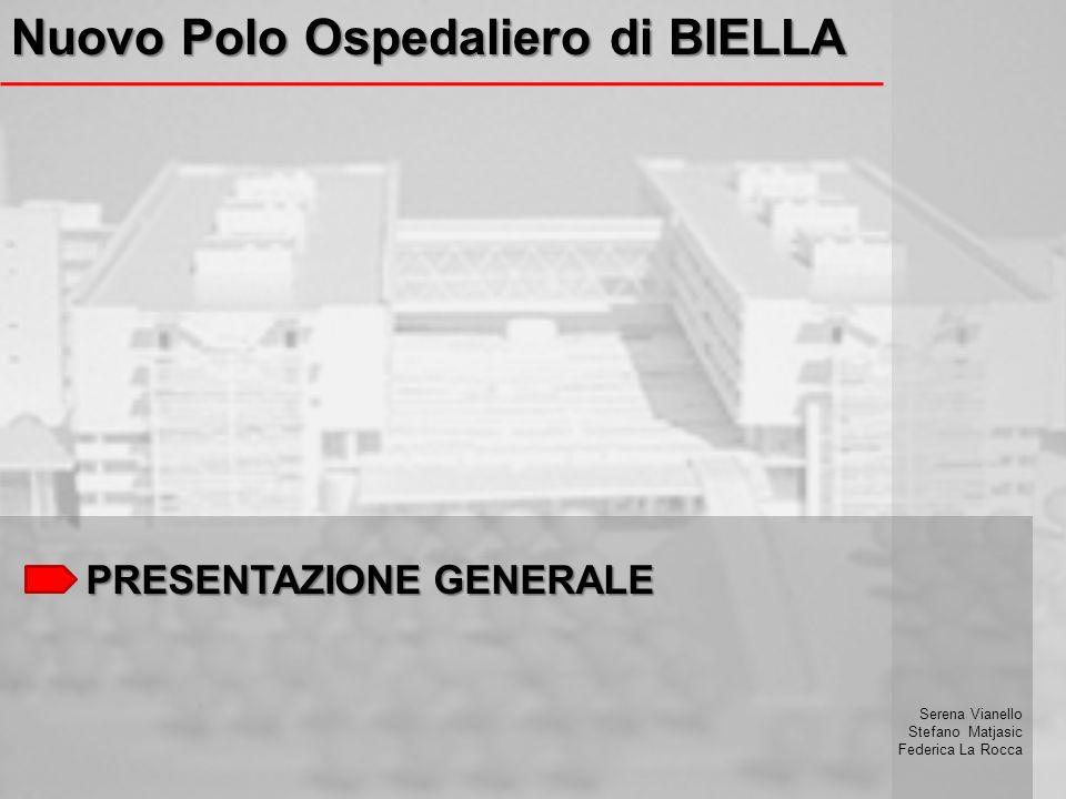 PRESENTAZIONE GENERALE Nuovo Polo Ospedaliero di BIELLA Serena Vianello Stefano Matjasic Federica La Rocca