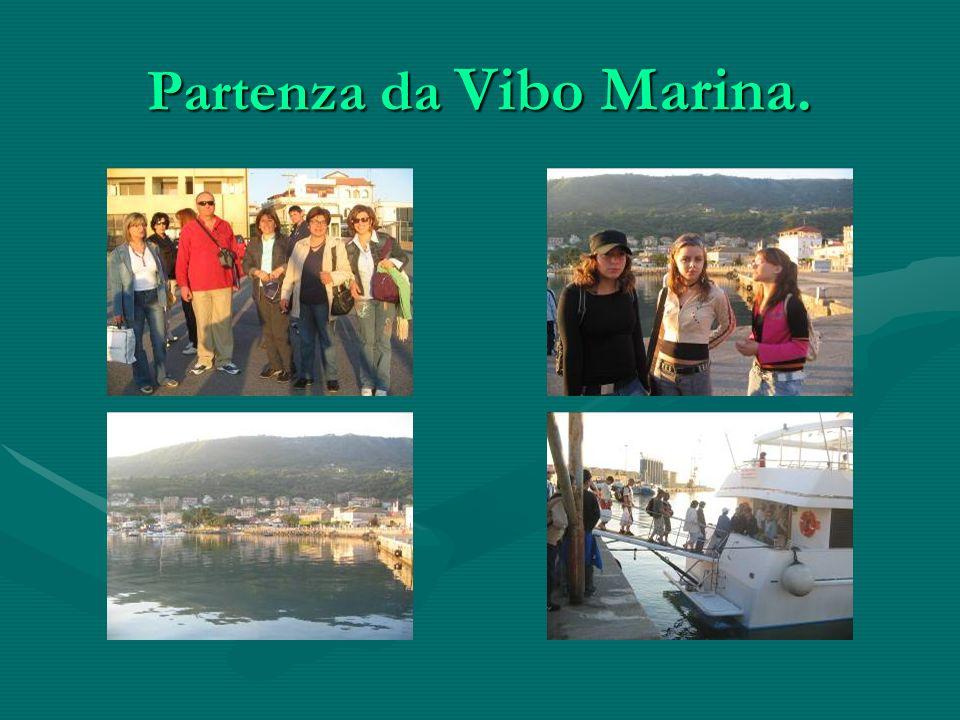 Partenza da Vibo Marina.