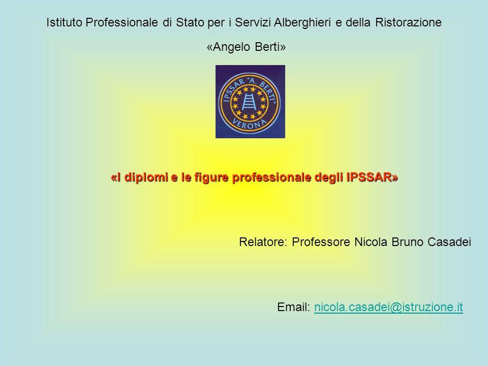Istituto Professionale di Stato per i Servizi Alberghieri e della Ristorazione «Angelo Berti» «I diplomi e le figure professionale degli IPSSAR» Relat