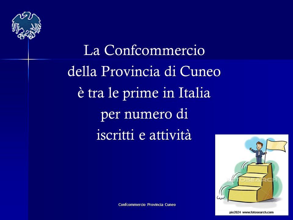 Confcommercio Provincia Cuneo La Confcommercio della Provincia di Cuneo è tra le prime in Italia per numero di iscritti e attività La Confcommercio de
