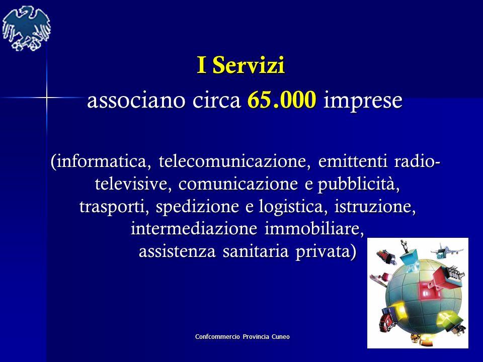 Confcommercio Provincia Cuneo I Servizi I Servizi associano circa 65.000 imprese associano circa 65.000 imprese (informatica, telecomunicazione, emitt