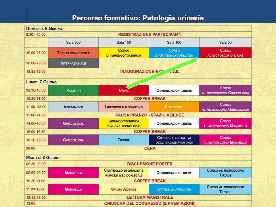 Percorso formativo: Patologia urinaria