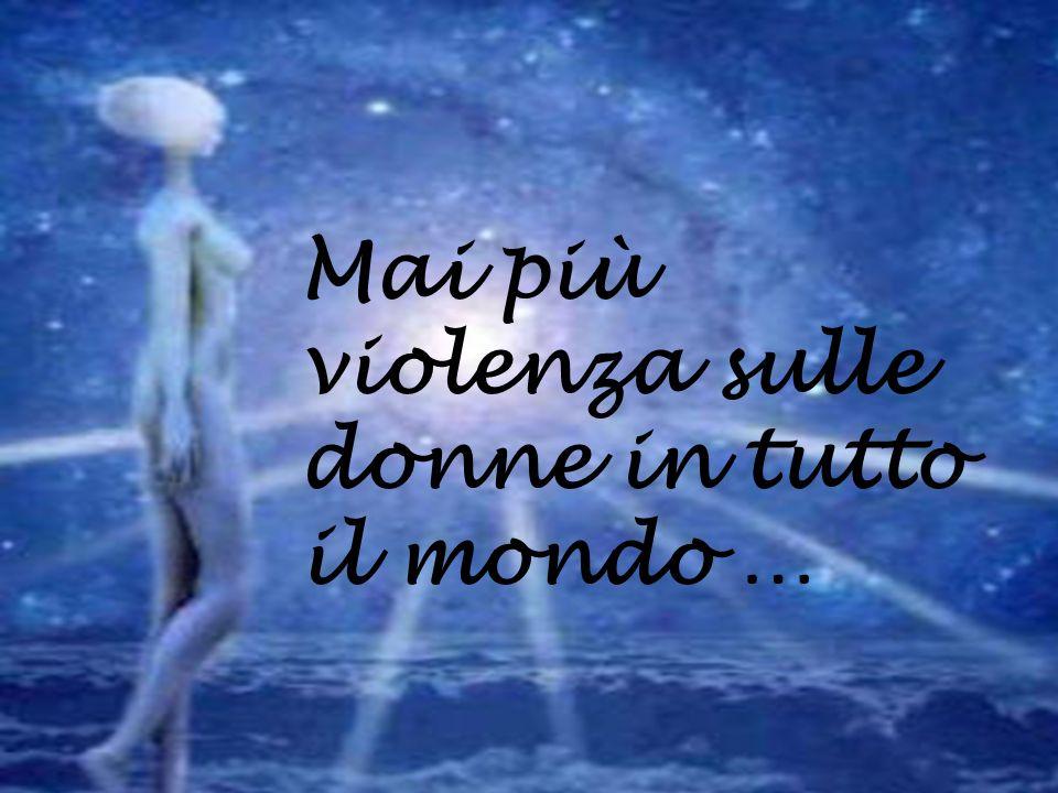 Per le donne vittime della violenza: Rompi il muro di silenzio che circonda la violenza domestica.