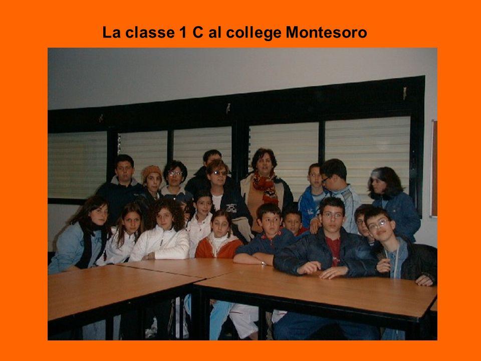 La classe 1 C al college Montesoro