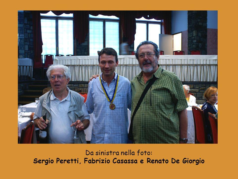 Da sinistra nella foto: Sergio Peretti, Fabrizio Casassa e Renato De Giorgio