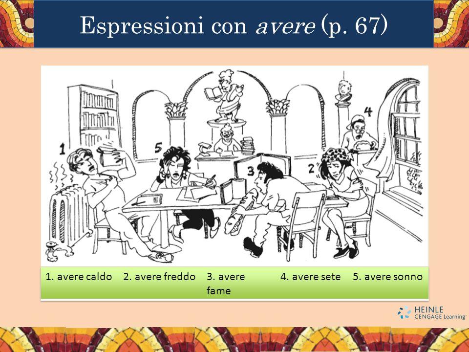 Espressioni con avere (p. 67)