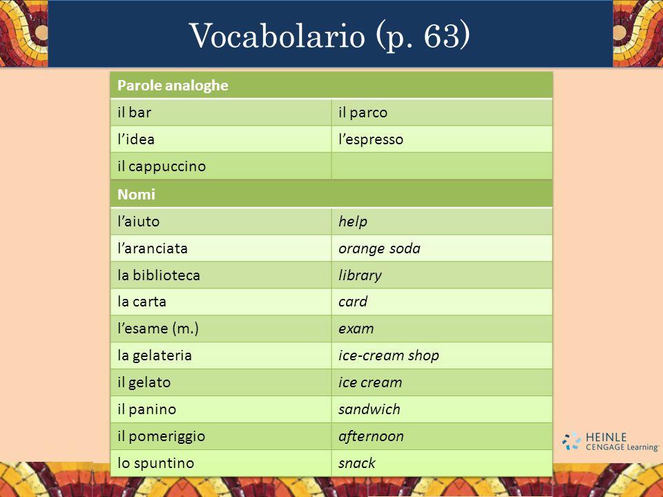 Vocabolario (p. 63)