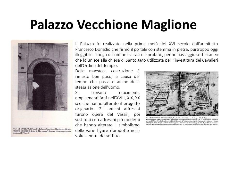 Palazzo Vecchione Maglione Della maestosa costruzione è rimasto ben poco, a causa del tempo che passa e anche della stessa azione delluomo. Si trovano