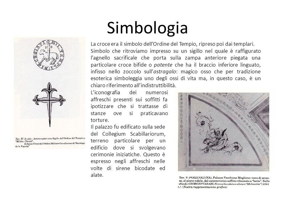 Simbologia La croce era il simbolo dellOrdine del Tempio, ripreso poi dai templari. Simbolo che ritroviamo impresso su un sigillo nel quale è raffigur