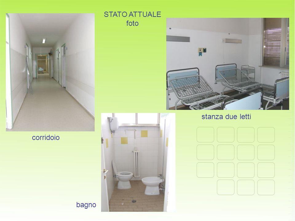 STATO ATTUALE foto corridoio stanza due letti bagno