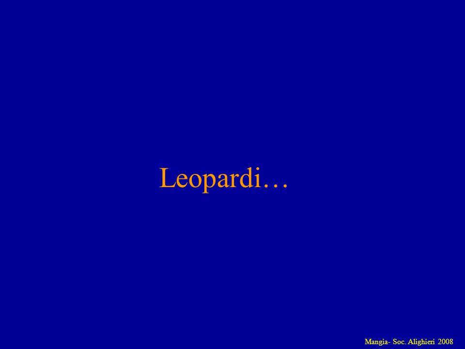 Mangia- Soc. Alighieri 2008 Leopardi…