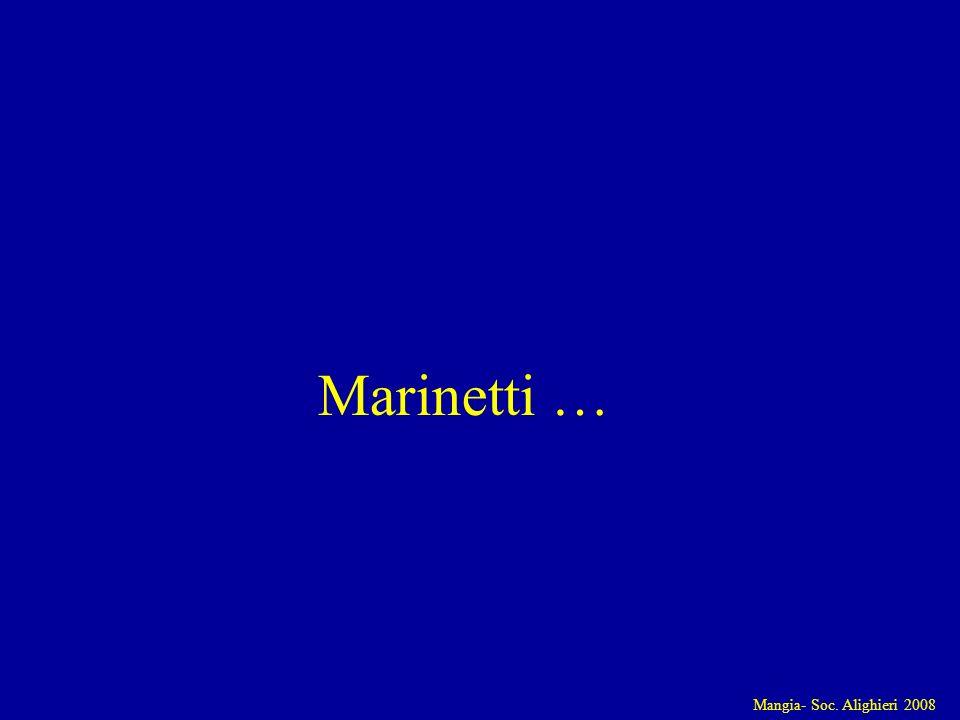 Mangia- Soc. Alighieri 2008 Marinetti …