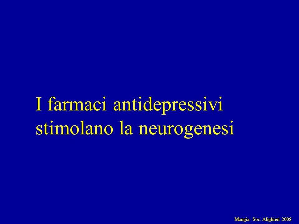 Mangia- Soc. Alighieri 2008 I farmaci antidepressivi stimolano la neurogenesi