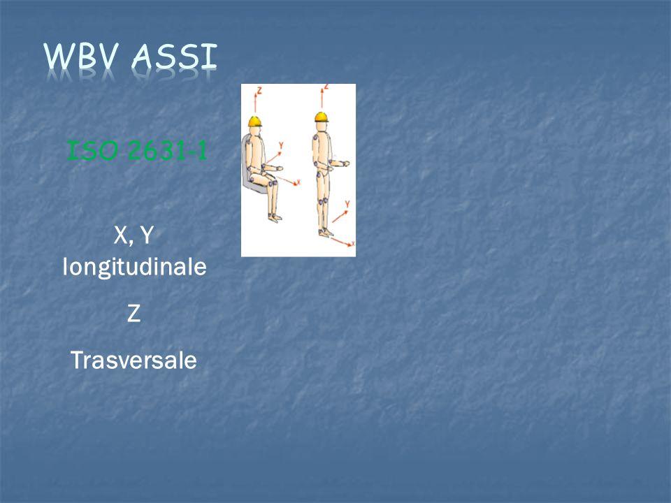 ISO 2631-1 X, Y longitudinale Z Trasversale