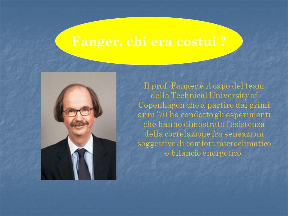 Il prof. Fanger è il capo del team della Technical University of Copenhagen che a partire dai primi anni 70 ha condotto gli esperimenti che hanno dimo