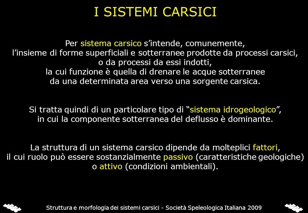 Per sistema carsico sintende, comunemente, linsieme di forme superficiali e sotterranee prodotte da processi carsici, o da processi da essi indotti, l