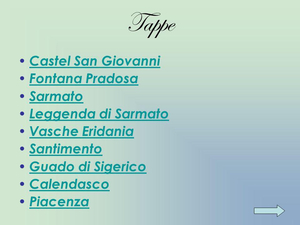 Informazioni Il percorso che proponiamo rappresenta una variante del tracciatoVia di Po realizzato dalla regione Emilia Romagna nelle provincie di Piacenza, Parma e Reggio Emilia.