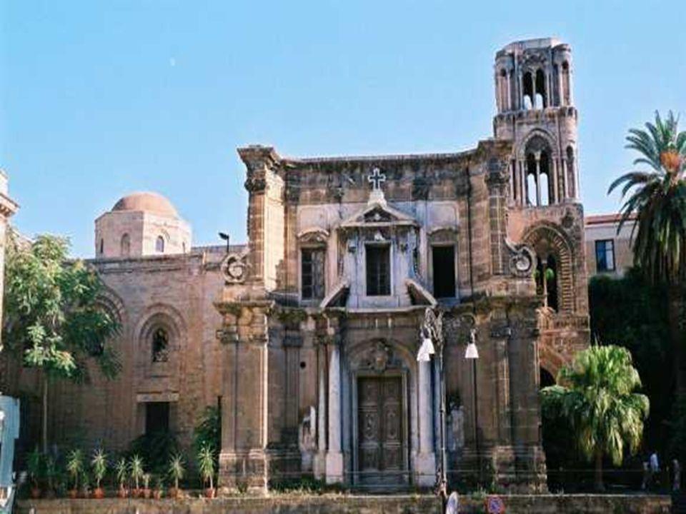 CHIESA della MARTORANA La Chiesa di Santa Maria dell Ammiraglio, detta anche la Martorana dal nome del contiguo convento (oggi non più esistente) fondato nel 1194 da Elvira Martorana.