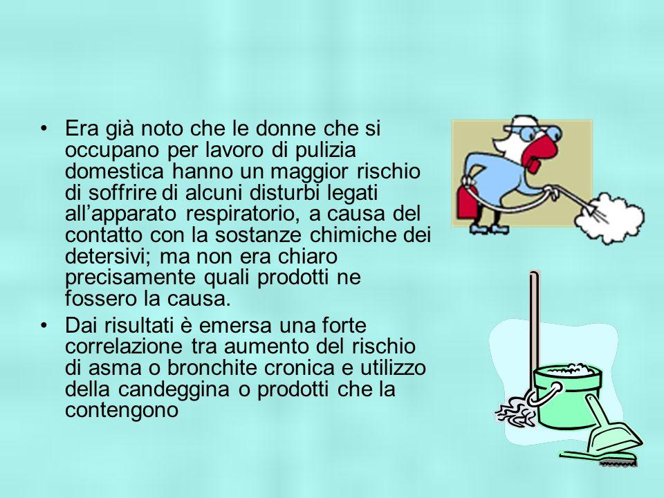 Era già noto che le donne che si occupano per lavoro di pulizia domestica hanno un maggior rischio di soffrire di alcuni disturbi legati allapparato r