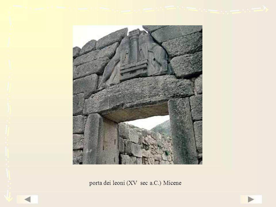 porta dei leoni (XV sec a.C.) Micene