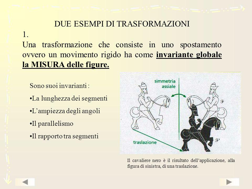 DUE ESEMPI DI TRASFORMAZIONI 1.