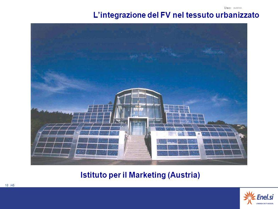 18 /45 Uso: pubblico Lintegrazione del FV nel tessuto urbanizzato Istituto per il Marketing (Austria)