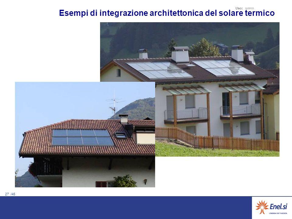 27 /45 Uso: pubblico Esempi di integrazione architettonica del solare termico
