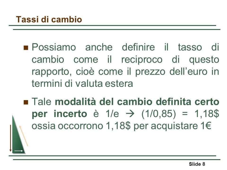 Capitolo 12: Equilibrio macroeconomico prezzi e aggiustamenti internazionali Slide 59