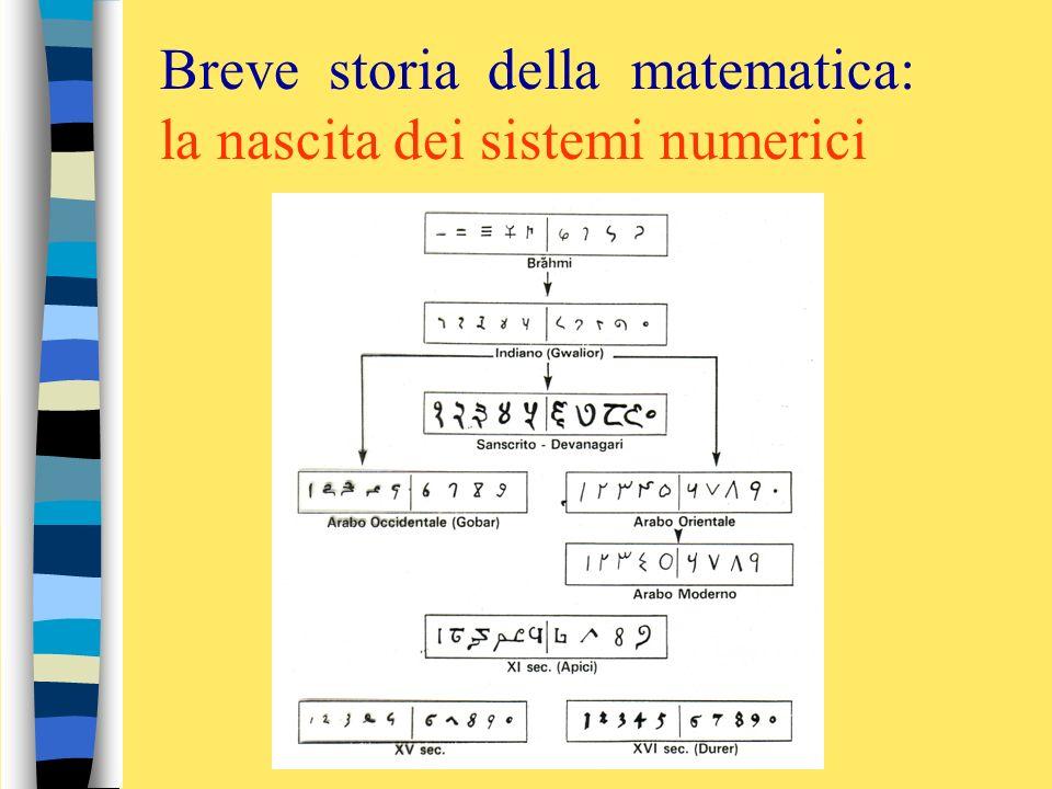 Sulla via delle competenze PAESTUM 29 -30 sett. 1 ott.2011 Breve storia della matematica: la nascita dei sistemi numerici