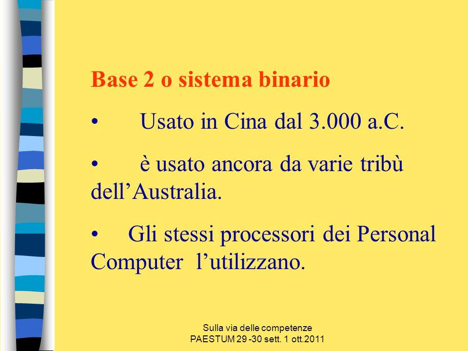 Sulla via delle competenze PAESTUM 29 -30 sett.