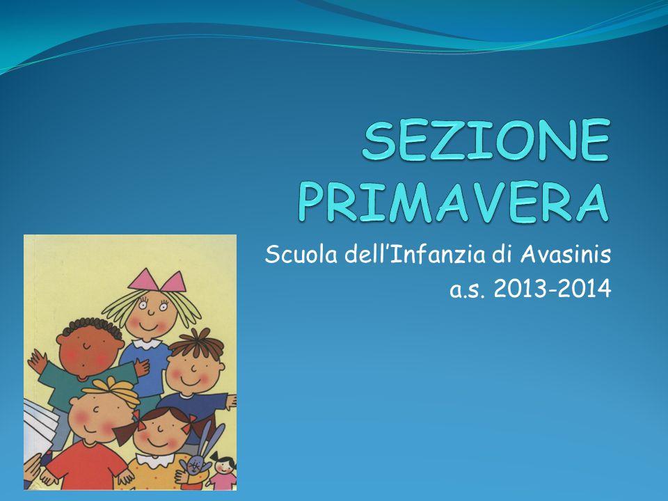 Scuola dellInfanzia di Avasinis a.s. 2013-2014