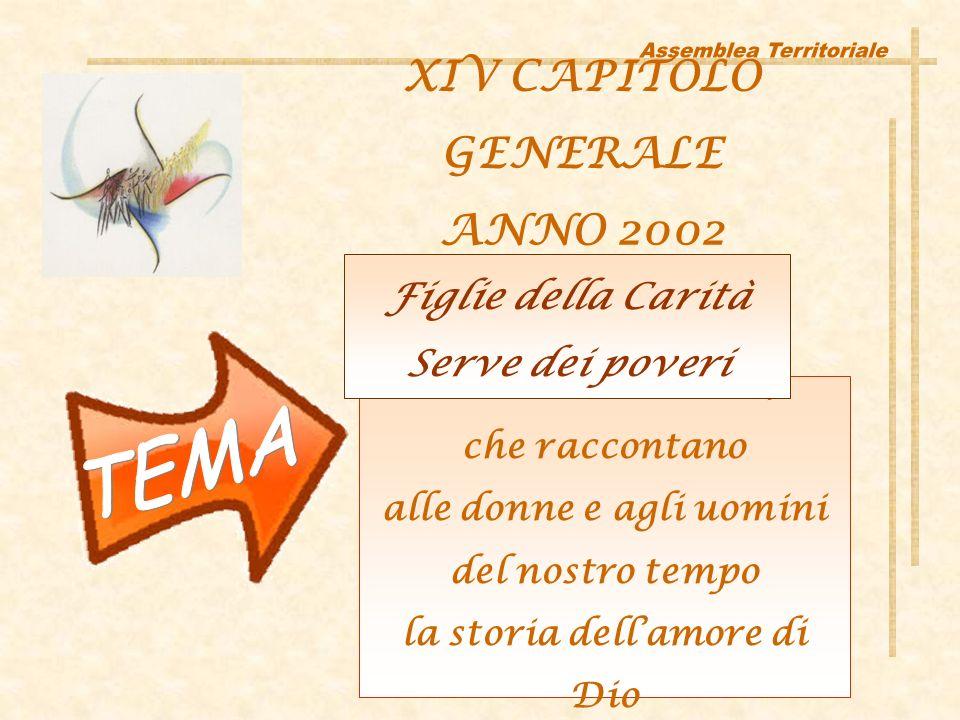 Donne consacrate, che raccontano alle donne e agli uomini del nostro tempo la storia dellamore di Dio XIV CAPITOLO GENERALE ANNO 2002 Figlie della Carità Serve dei poveri
