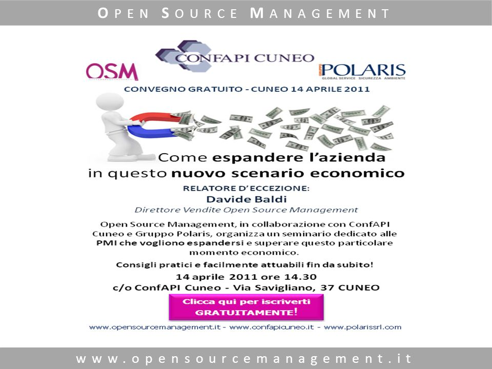 www.opensourcemanagement.it O PEN S OURCE M ANAGEMENT