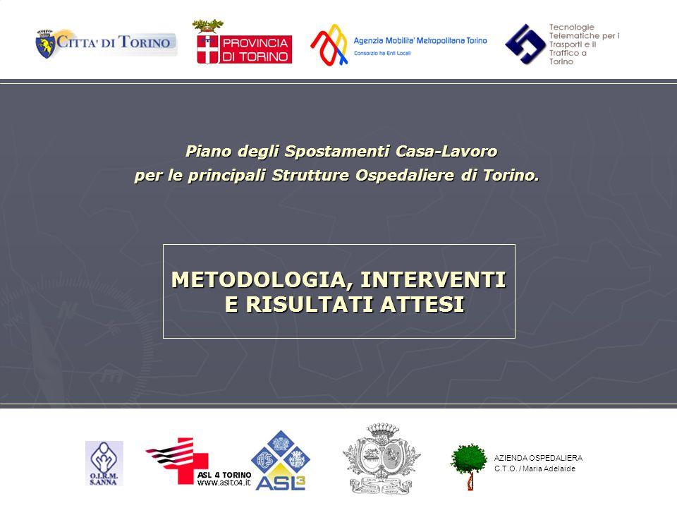Piano degli Spostamenti Casa-Lavoro per le principali Strutture Ospedaliere di Torino. METODOLOGIA, INTERVENTI E RISULTATI ATTESI AZIENDA OSPEDALIERA