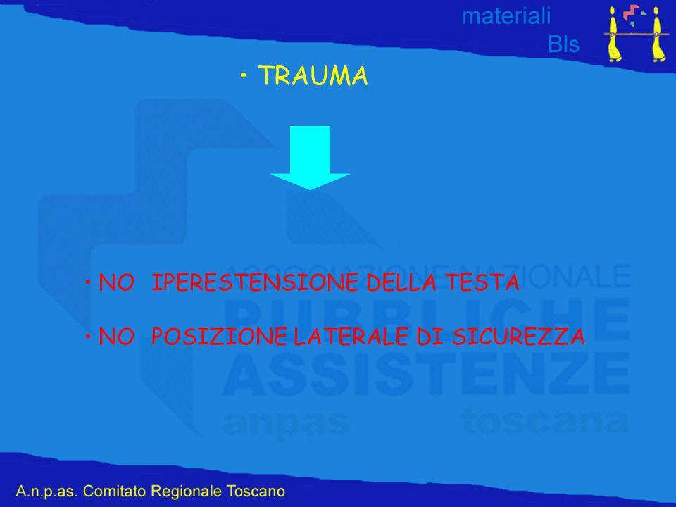 TRAUMA NOIPERESTENSIONE DELLA TESTA NOPOSIZIONE LATERALE DI SICUREZZA