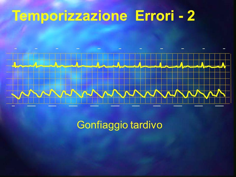 Temporizzazione Errori - 1 Gonfiaggio prematuro