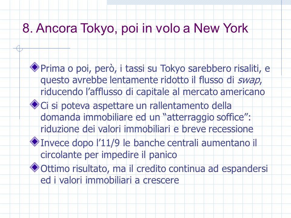 8. Ancora Tokyo, poi in volo a New York Prima o poi, però, i tassi su Tokyo sarebbero risaliti, e questo avrebbe lentamente ridotto il flusso di swap,