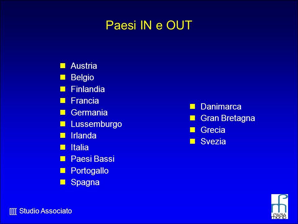 [[[[ Studio Associato Paesi IN e OUT Austria Belgio Finlandia Francia Germania Lussemburgo Irlanda Italia Paesi Bassi Portogallo Spagna Danimarca Gran Bretagna Grecia Svezia