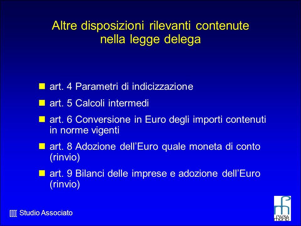 [[[[ Studio Associato Altre disposizioni rilevanti contenute nella legge delega art.
