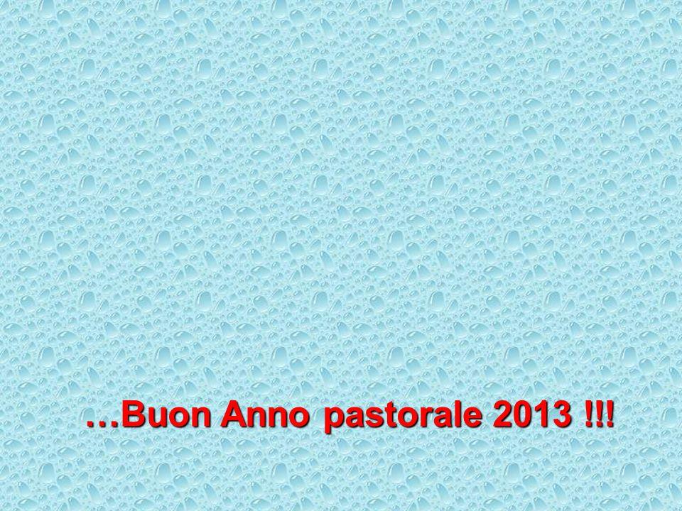 …Buon Anno pastorale 2013 !!!