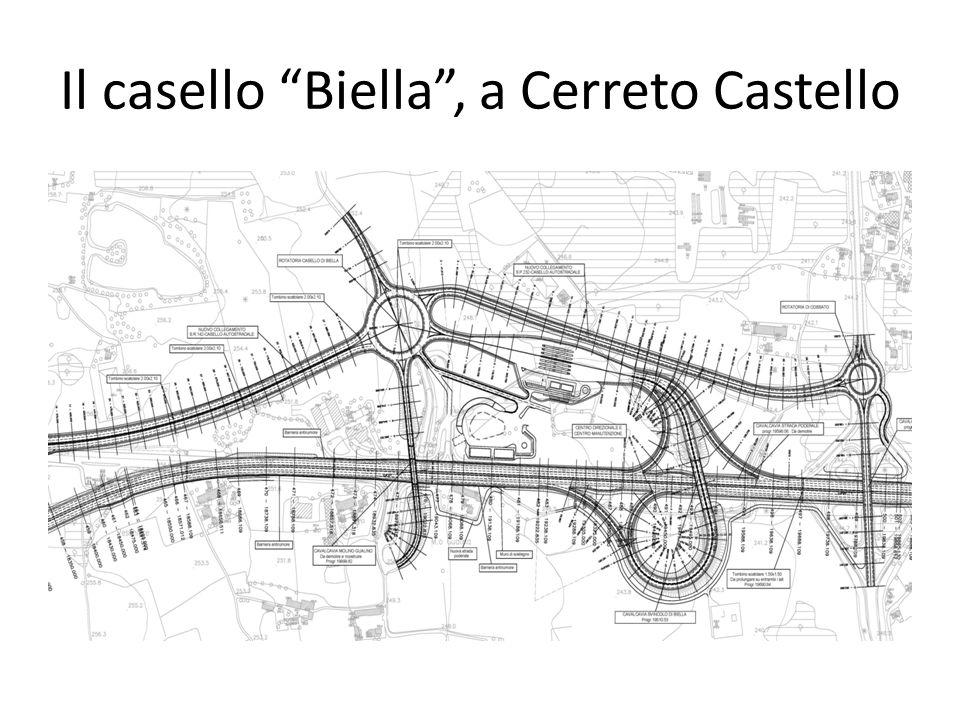 Il casello Biella, a Cerreto Castello